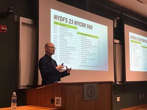 Ron Arden Talks About NYDFS and Cybersecurity at FinCyberSec 2017