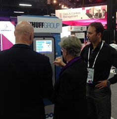 Dayhuff and Fasoo show charging station at IBM Insight 2015
