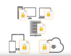 Securely access IBM ECM files from cloud repositories