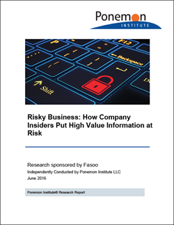 Fasoo and Ponemon Study Reveals Employees Highest Security Risk to Organizations