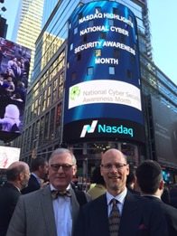 Ron Arden and Bill Blake at the National Cyber Security Awareness month event